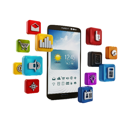 Create an app AppScholar phone with icons