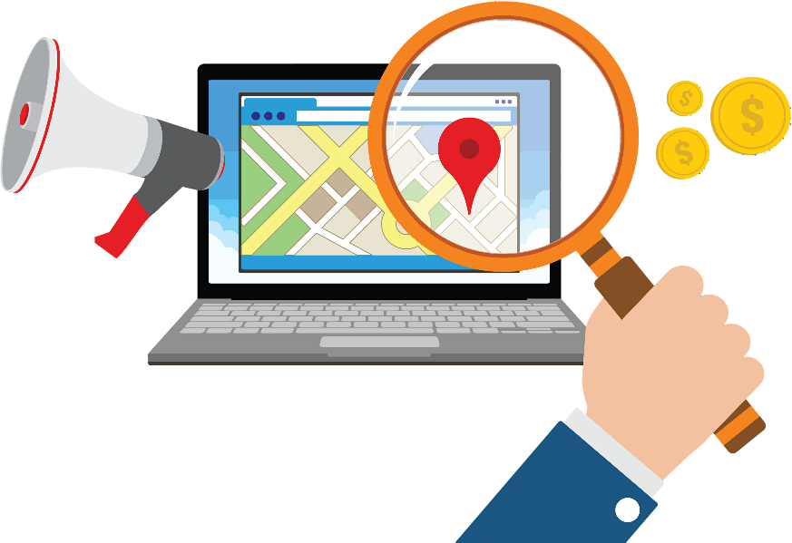 Local search placement for business