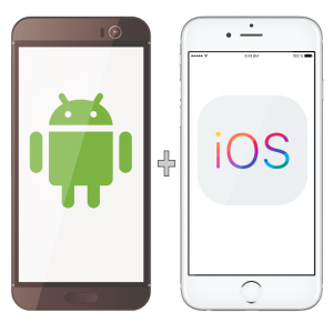 android app and ios app 300
